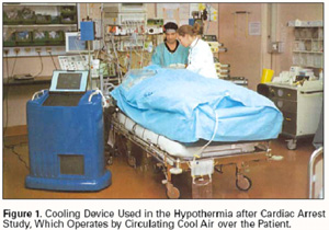 Cooling Device used in Hypothermina after Cardiac Arest Study.